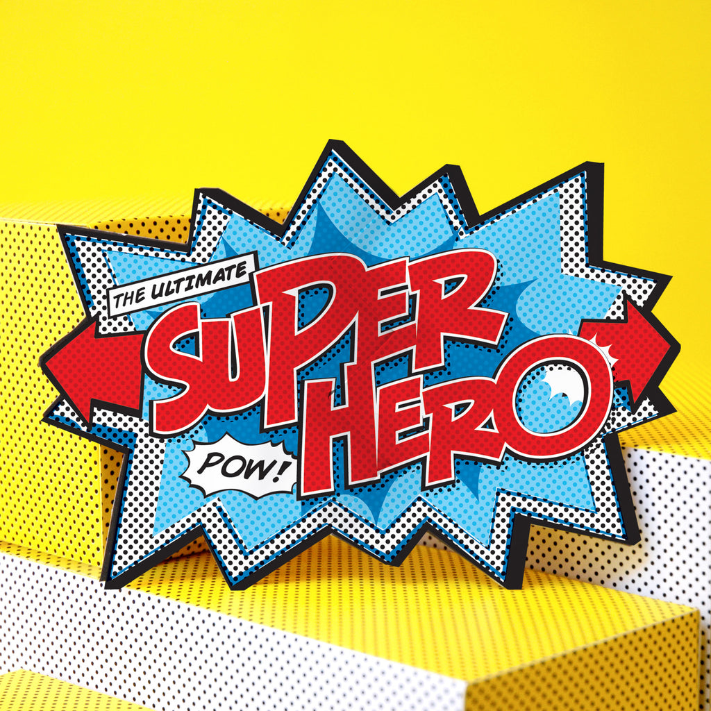 'Super Hero' Comic Cracker Card
