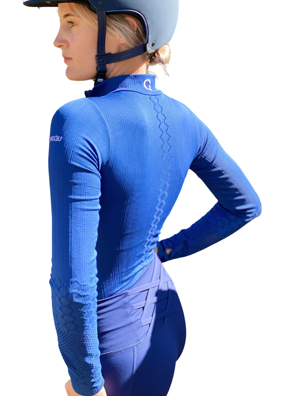 GISELE EQUESTRIAN BASE LAYER IN RIBBON-BLUE