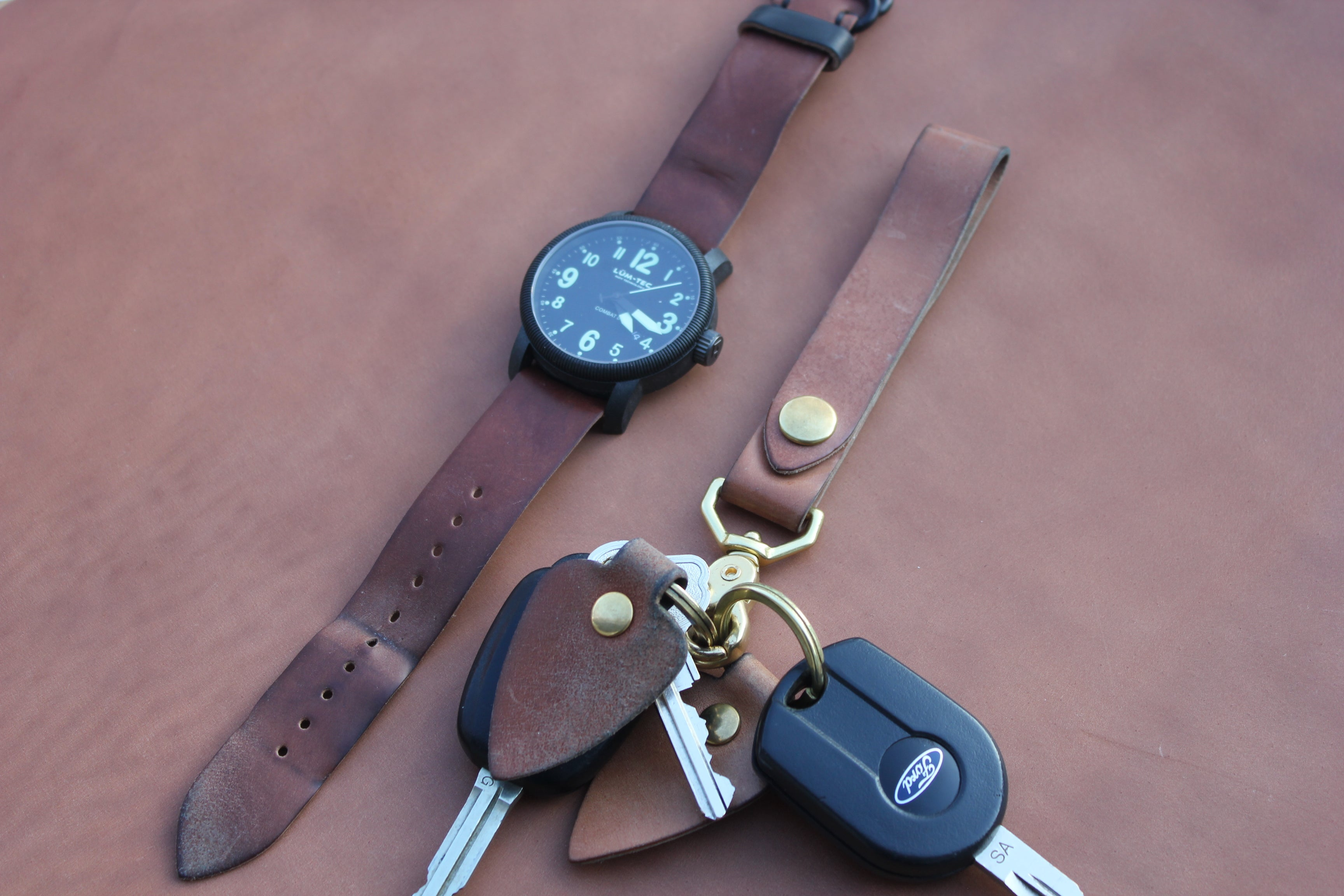 Guarded Goods Aged Lanyard, Watch Strap and Key Fob