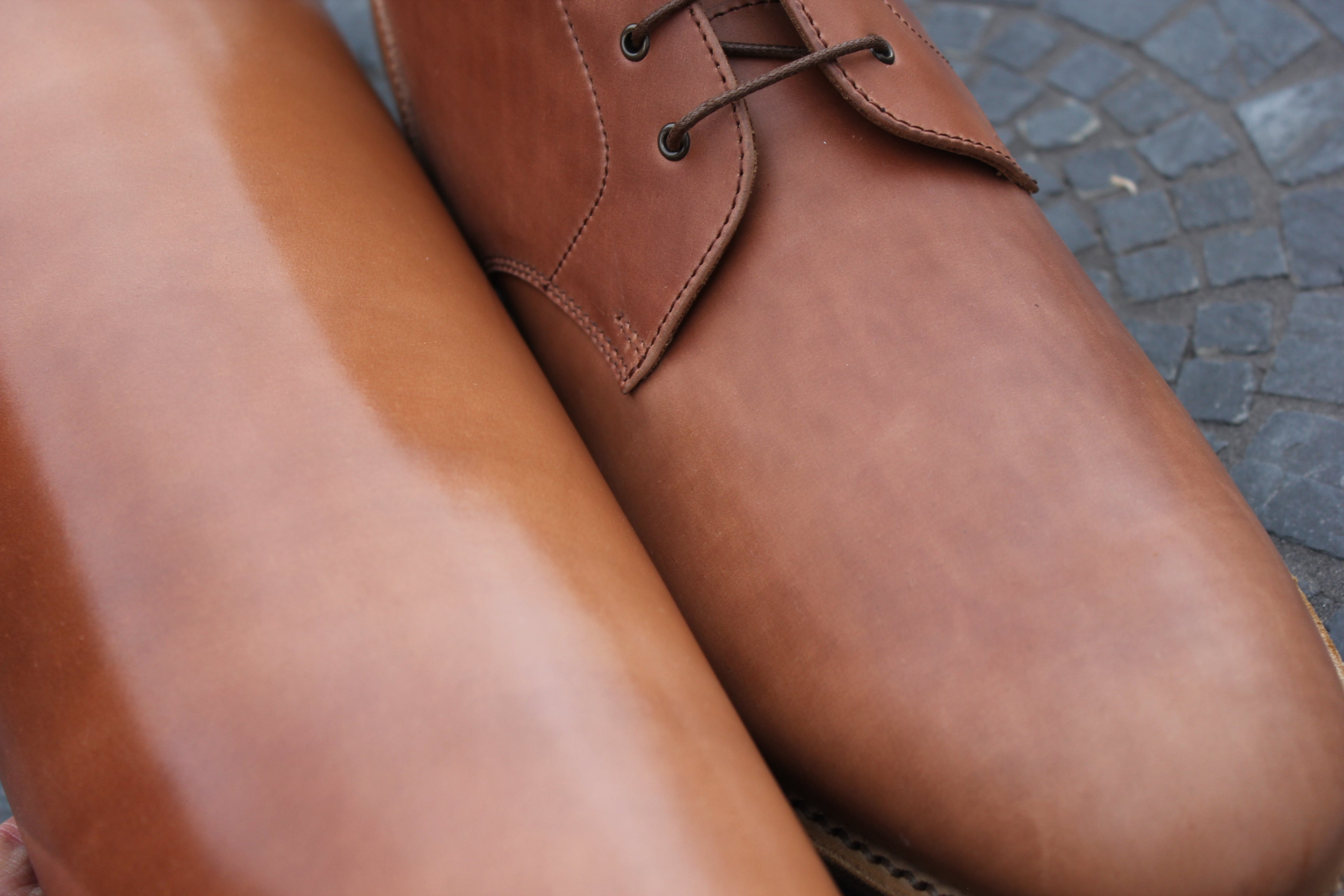 Horween Unglazed Shell Cordovan vs. Glazed Shell Cordovan