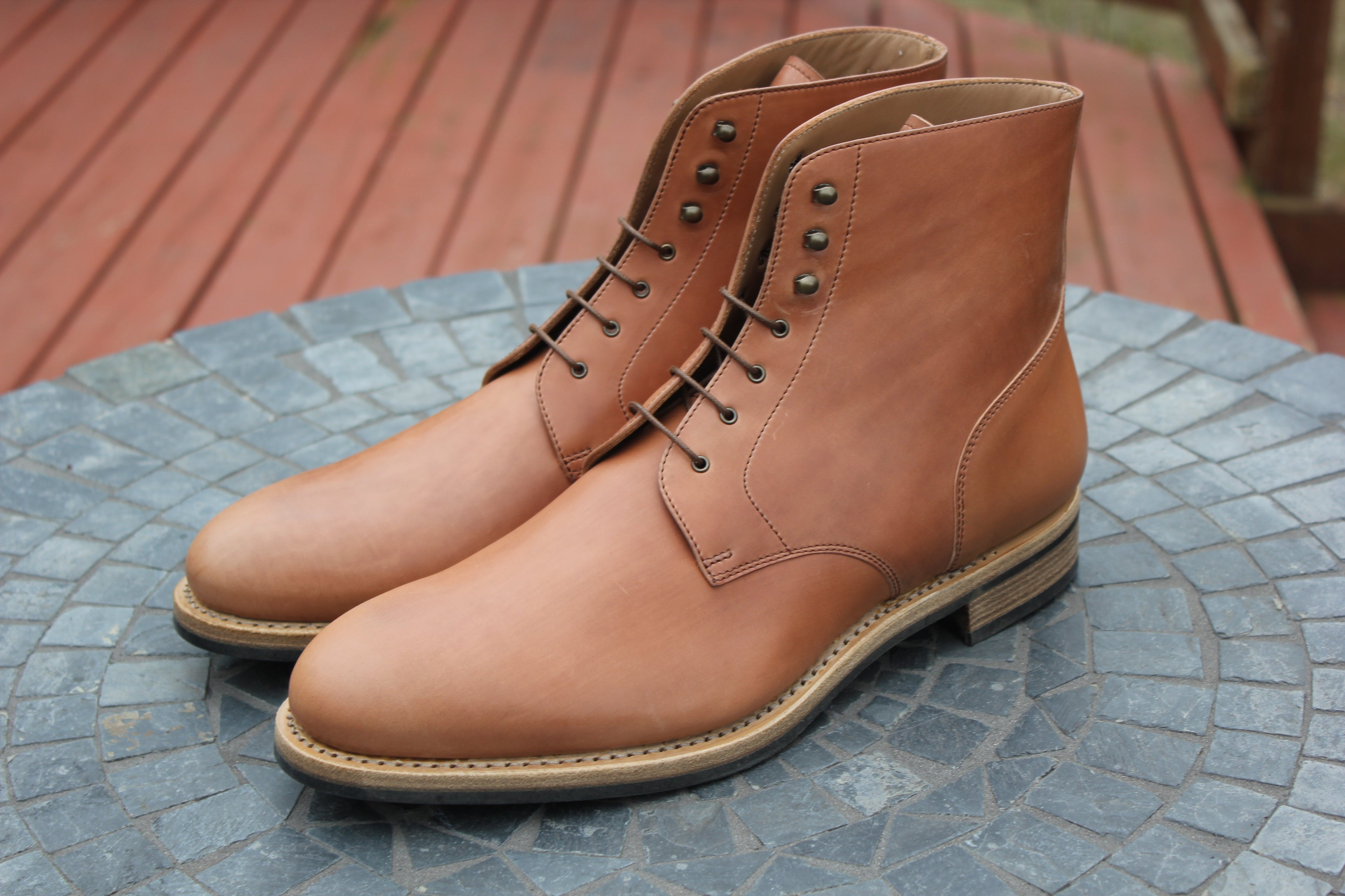 Rider Boot Company - Horween Unglazed Natural Shell Cordovan Dundalk Boots