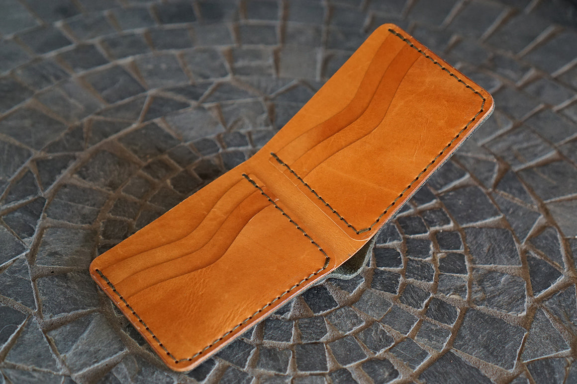 Bulwark (6 Slots) - Horween Forest Chamois and 1940s Calfskin