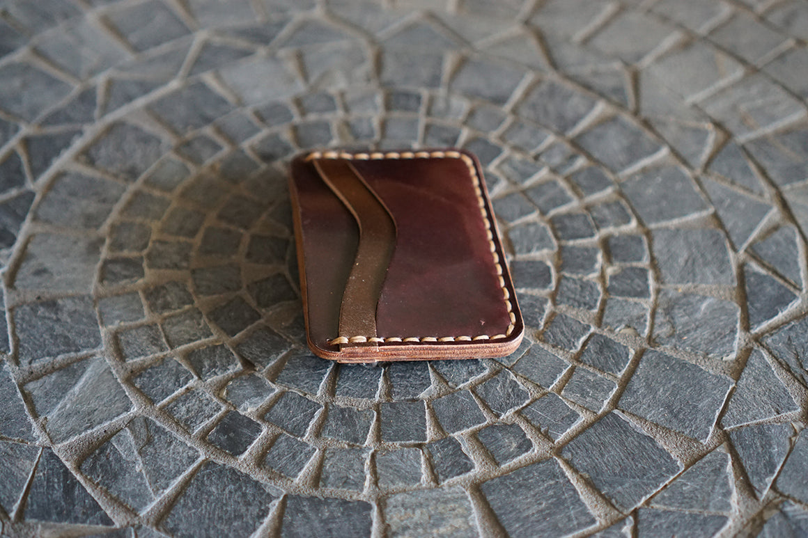 Buckler (4 Slots) - Horween Mixed Color Shell Cordovan