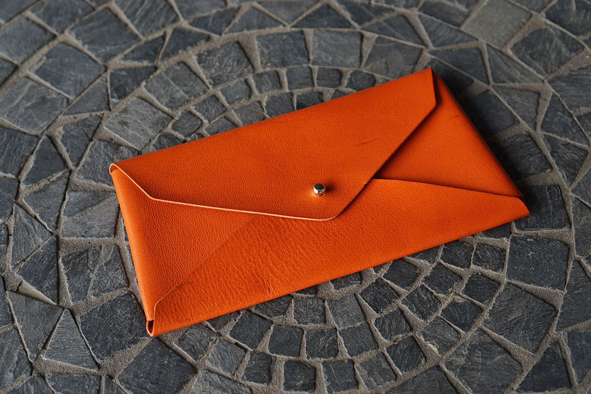 Envelope Wallet - Alran Orange Goatskin