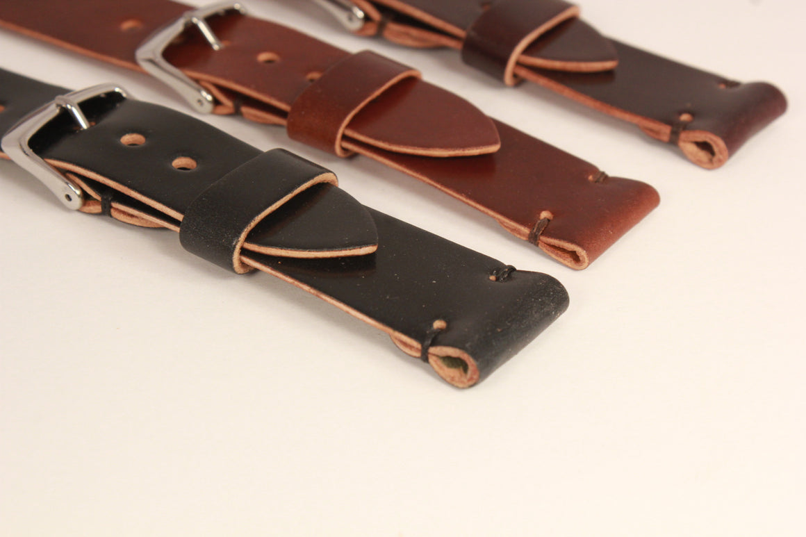 Two Piece Shell Cordovan Watch Strap