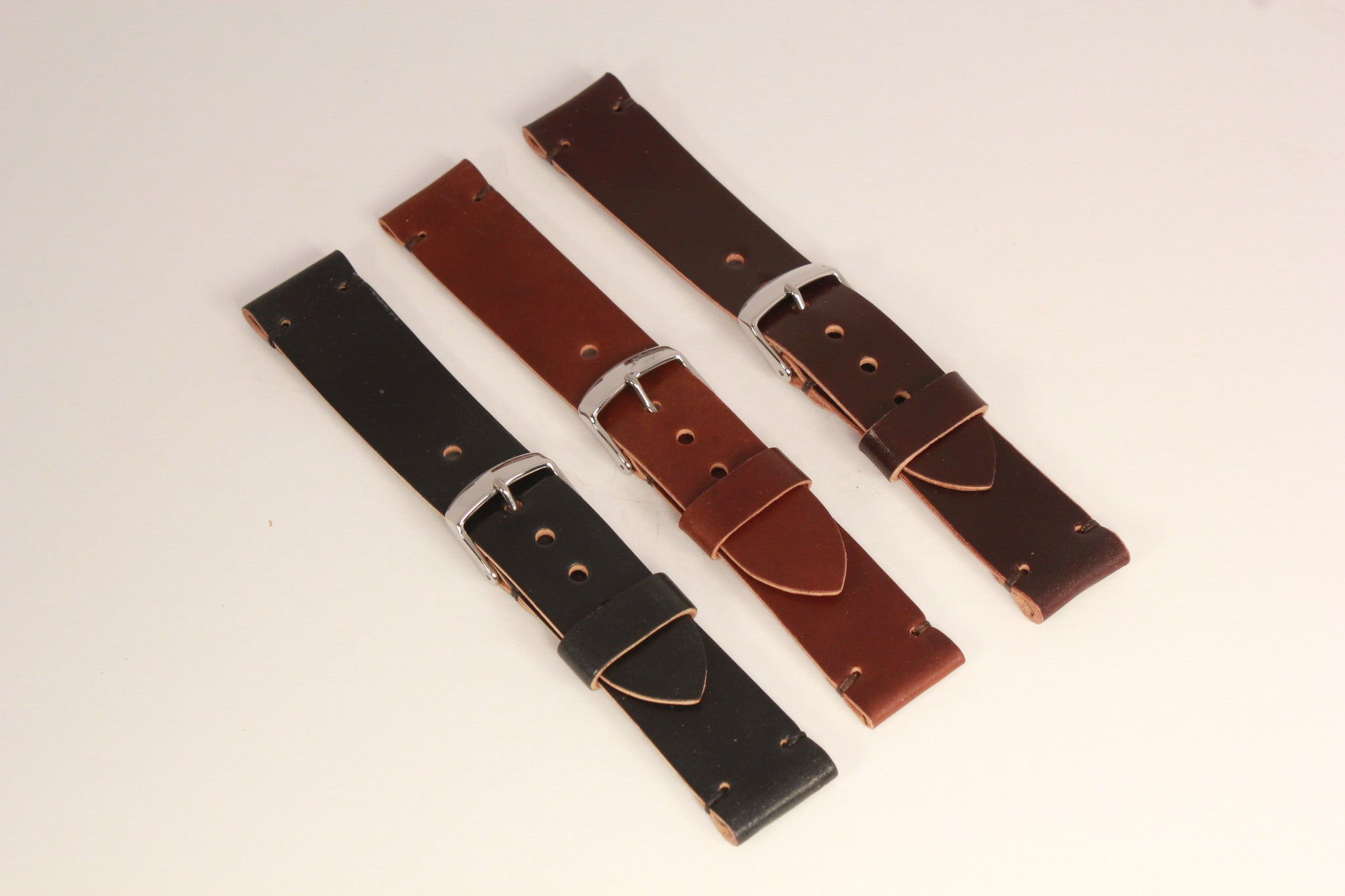 fef16bfd7 Two Piece Shell Cordovan Watch Strap   Guarded Goods   Handmade ...