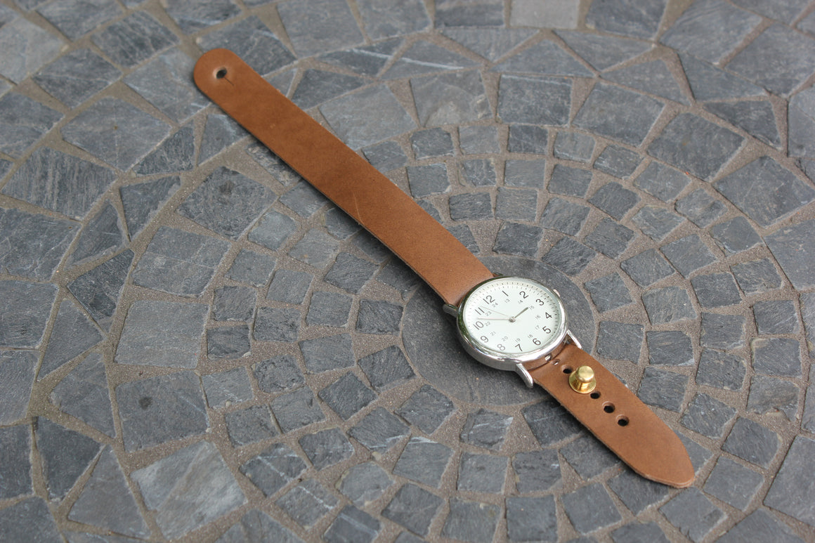 Standard Leather Button Stud Watch Strap