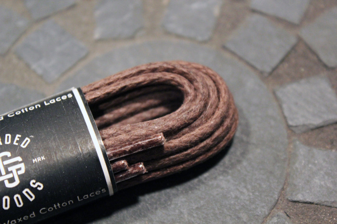 "48"" Round Braided Cord Waxed Boot Laces"