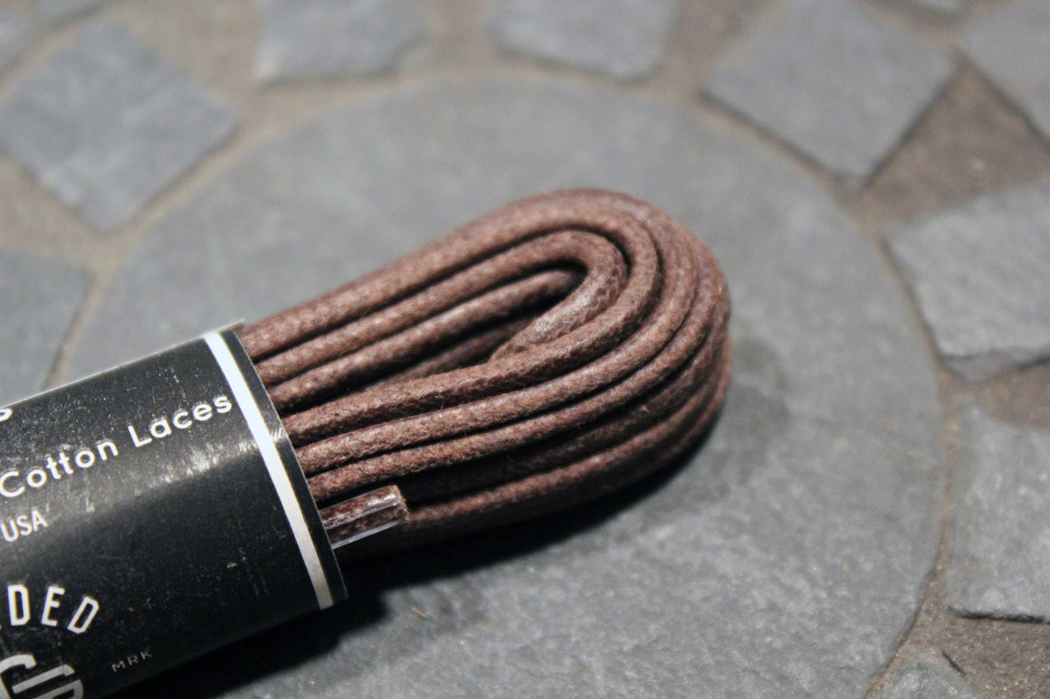 "54"" Thin Round Cord Waxed Boot Laces"