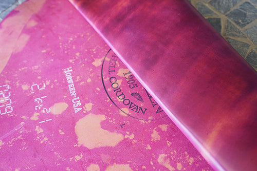 Horween Marbled Ultraviolet Shell Cordovan