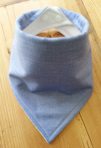 Blue Denim Bandana Dribble Bib