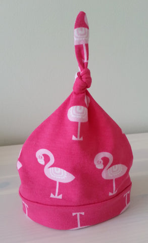 Pink Flamingos Baby Beanie Hat