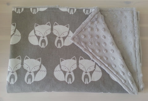 Funky Foxes Baby Pram/Car Seat Blanket