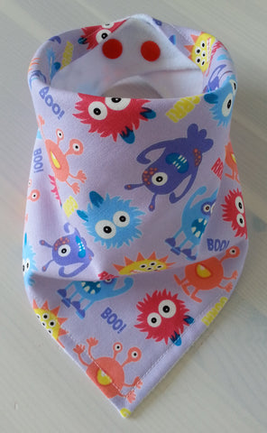 Little Monsters Lilac Bandana Dribble Bib