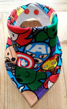 Marvel Kawaii Bandana Dribble Bib - My Little Owl Bandana Dribble Bibs - Funky Handmade Dribble Bibs For Boys and Girls