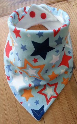 Super Stars Blue Bandana Dribble Bib