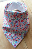 Summer Daisies Bandana Dribble Bib - My Little Owl Bandana Dribble Bibs - Funky Handmade Dribble Bibs For Boys and Girls