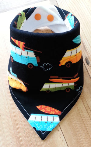Surf's Up Campers Bandana Dribble Bib