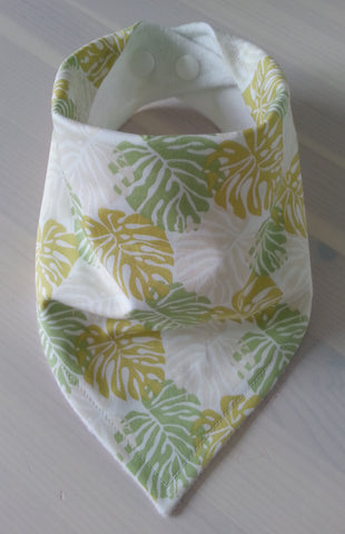 Tropical Leaves Bandana Dribble Bib