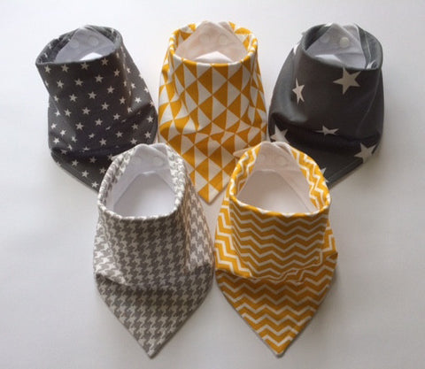 Sunshine & Showers Bandana Dribble Bib Bundle