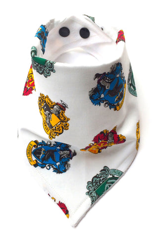 Harry Potter Hogwarts Houses Bandana Dribble Bib