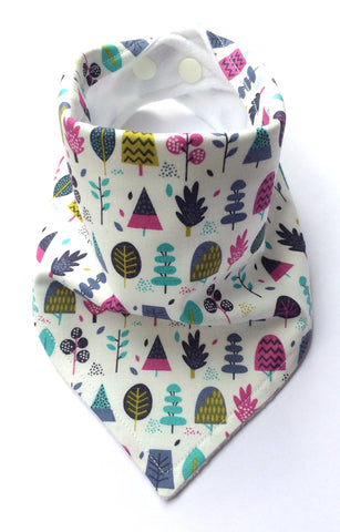 Autumn Trees Bandana Dribble Bib