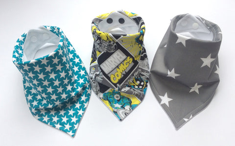 Marvel Comics Bandana Dribble Bib Bundle