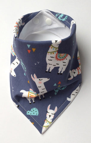 Lovely Llamas Bandana Dribble Bib