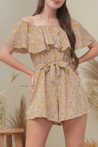 SADIE ROMPER IN TAN