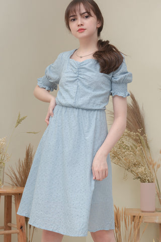LOUELLA DRESS IN LIGHT BLUE