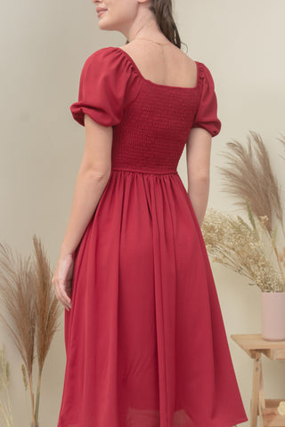 HAILEY DRESS IN RED