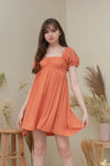 MAXINE DRESS IN TANGERINE
