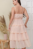 DOROTHY DRESS IN PEACH