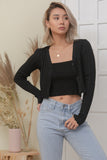 LELI TOP AND CARDI SET IN BLACK