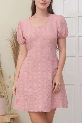 DANA DRESS IN ROSE PINK
