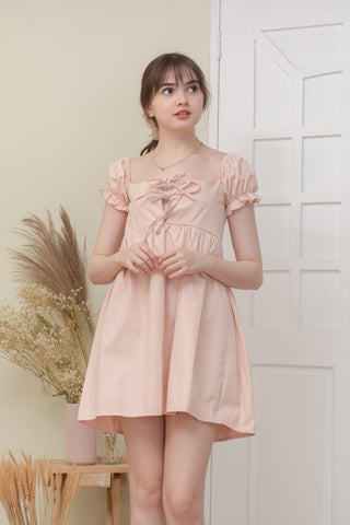 MILANA BABY DOLL DRESS IN BLUSH PINK