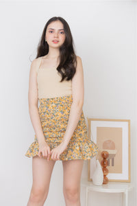 BETSY MINI SKIRT IN YELLOW