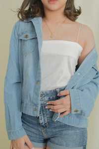 SUE DISTRESSED DENIM JACKET