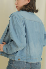 Load image into Gallery viewer, SUE DISTRESSED DENIM JACKET
