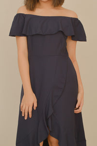 GIANNI OFF-THE-SHOULDER DRESS