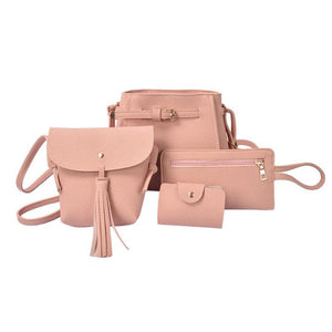 4Pcs/set  Faux Leather Women bags