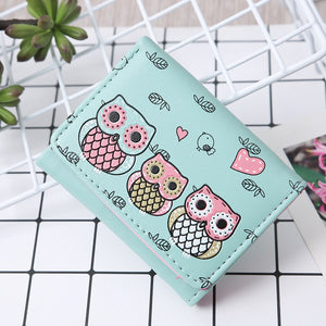 Cute Owl Women Short Wallets