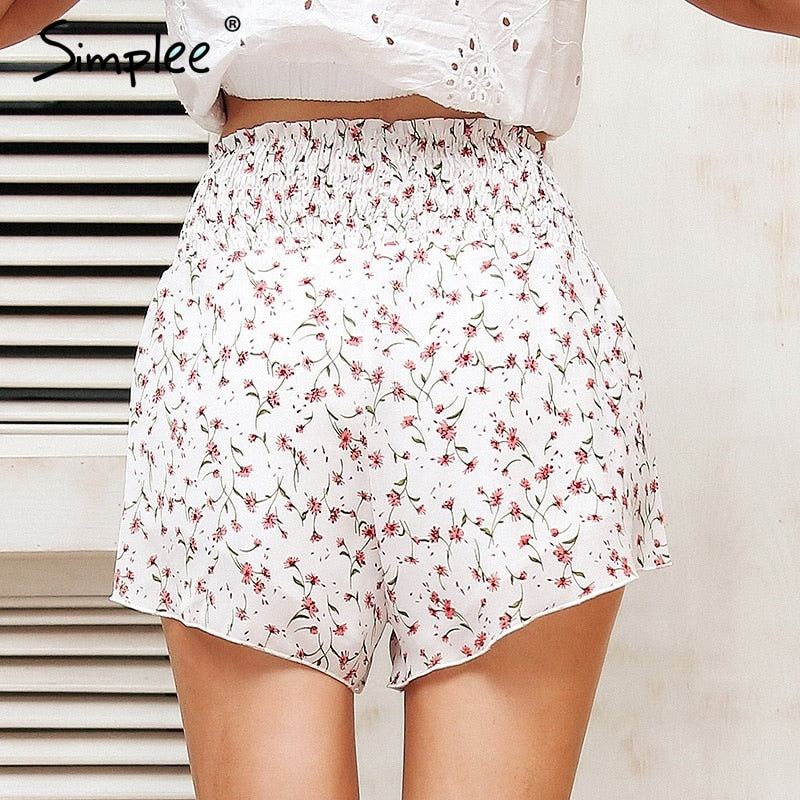 Sweet Floral Printed Shorts
