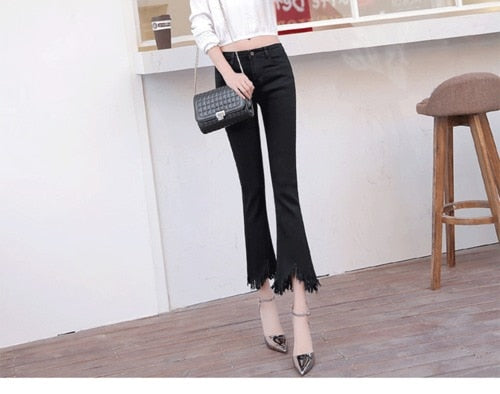 High Waist Slim-fit Jeans
