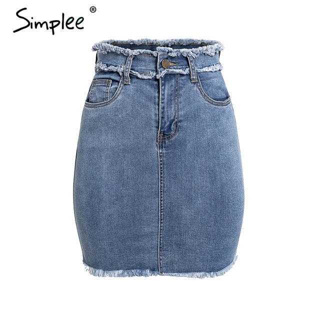 Casual Street Wear Jeans Summer Skirts