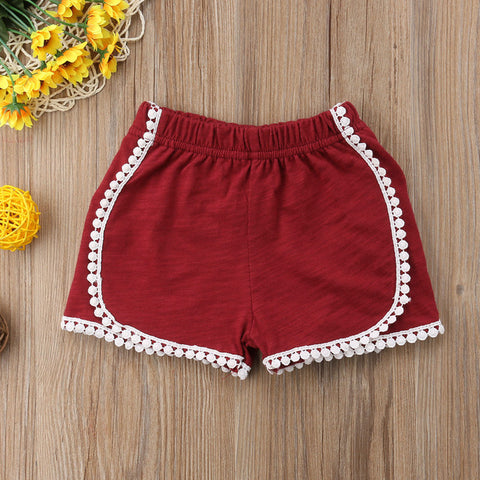 0-4T Infant Baby Girl Cotton  Shorts