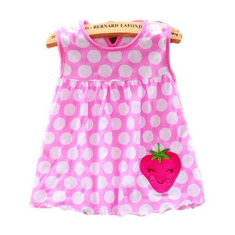 Baby Girl Cartoon Floral Dress