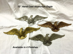 "12"" Hand Cast Aluminum Eagle"