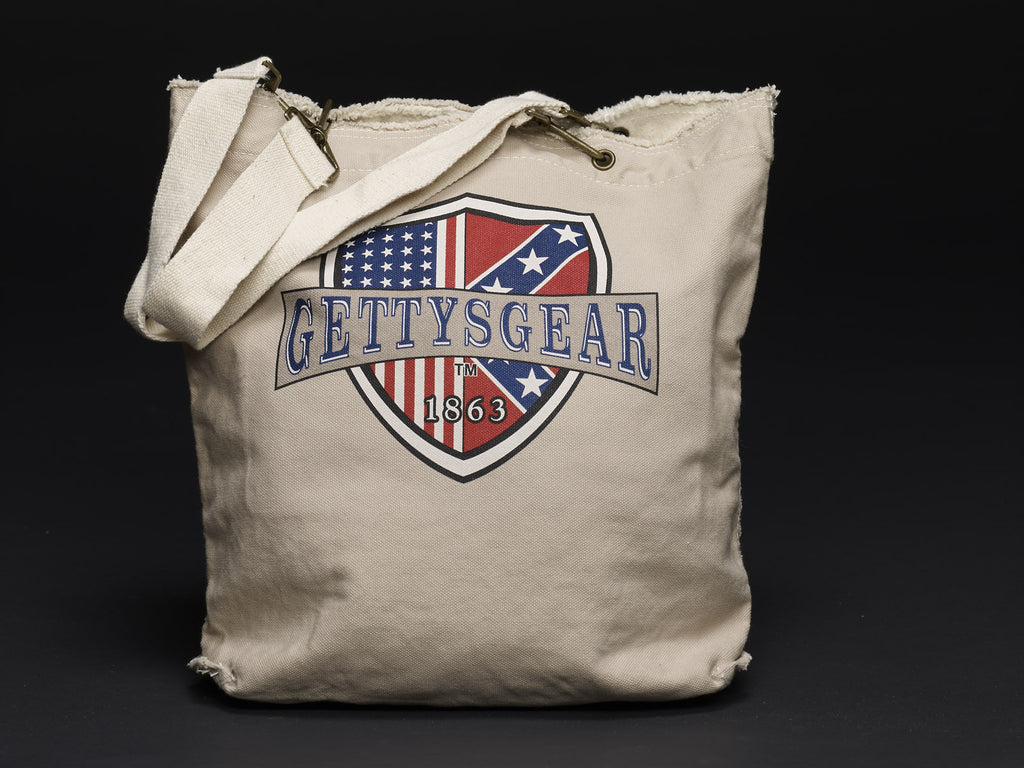 GettysGear™ Raw Edge Canvas Tote