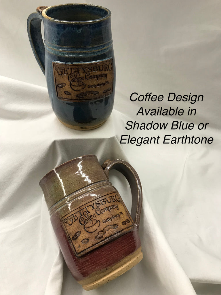 Handmade Oversized Coffee Mug-Coffee Design